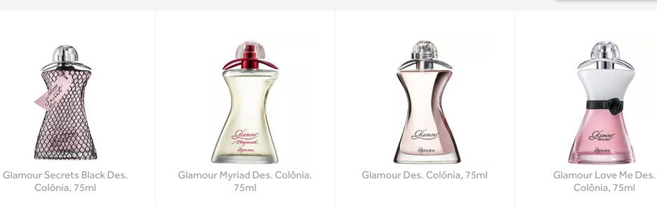perfume glamour just shine novo
