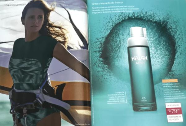 perfume natura kaiak aero feminino