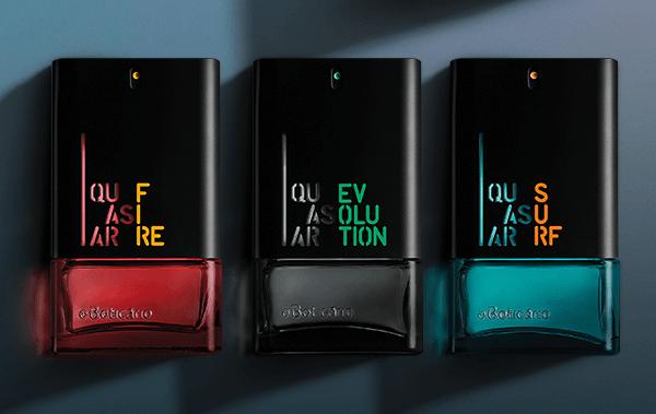 novos frascos perfume boticario quasar